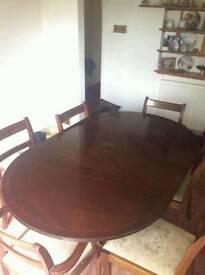 Mahogany oval table