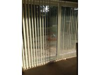 Patio door blinds slats