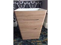Sunny, White Oak Storage Unit, Floor Standing, Soft Closing Drawers, Bathroom Usage, Good Condition