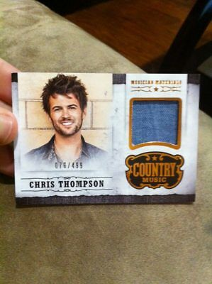 CHRIS THOMPSON 2014 PANINI COUNTRY MUSIC MUSICIAN MATERIAL EVENT-WORN RELIC /499