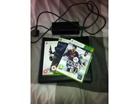 Xbox 360 elite (black) barely used! no controller, comes with FIFA 14, halo 3 and call of duty mw2