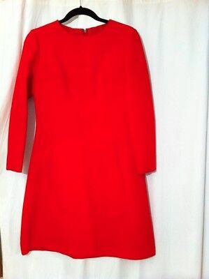 Louis Feraud Féraud At Rembrandt Mint Retro Vintage Small 1960s Red Mini Dress