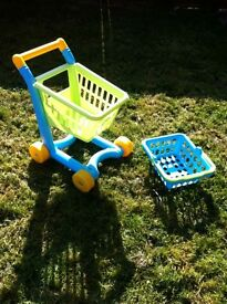 Children's trolley and basket set