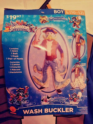 SKYLANDERS WASH BUCKLER HALLOWEEN COSTUME BY RUBIES BOY L (10-12) FREE SHIPPING