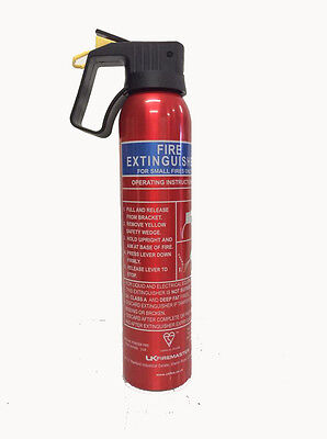 Compact Small Fire Extinguisher 600g Dry Powder Taxi Office Caravan Car