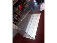 Vintage Glass Counter Display Unit for shop, bar, toy fair, craft fair, figures, models, cars trains