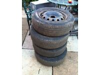 Peugeot 206 Wheels and tyres 175/65/14 tyres can fit any car with same size tyres