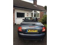 Audi A4 1.8 S Line Convertible in Dolphin Grey. 2005 - 114000