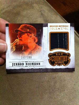 JERROD NIEMANN 2014 PANINI COUNTRY MUSIC MUSICIAN MATERIAL EVENT-WORN RELIC /399