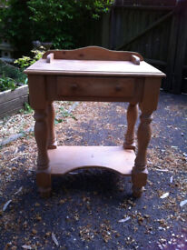Chunky Pine Telephone Table / Hall Console Table