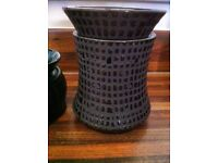 large electric scentsy warmer and wax rarely used ex con safer & cleaner than candles