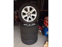 AUDI A1 ALLOY WHEELS 7 SPOKE with 205/55/15 Continental tyres