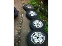 4 X Ford Transit 215/75/R16C Wheels and Tyre's 2000-2014 Mk6 and Mk7