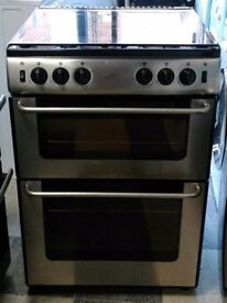 e249 stainless steel newworld 60cm double oven gas cooker comes with warranty can be delivered