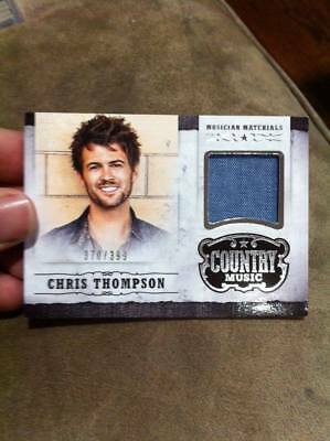 CHRIS THOMPSON 2014 PANINI COUNTRY MUSIC MUSICIAN MATERIAL EVENT-WORN RELIC /399