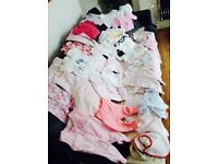 Boundle Of Baby Girls Clothes 0-3 Months