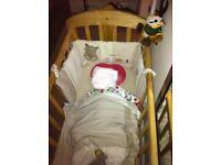 Mamas & Papas solid wood crib