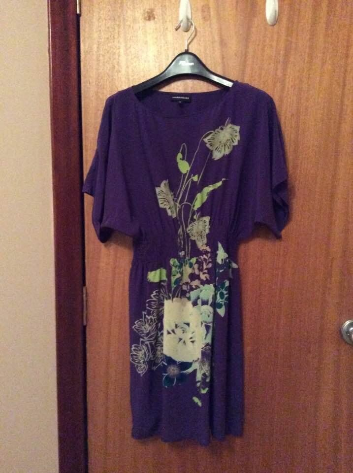 Purple dress with floral pattern