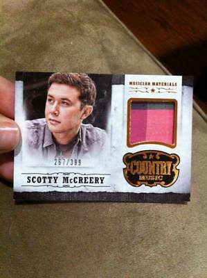 SCOTTY MCCREERY 2014 PANINI COUNTRY MUSICIAN MATERIALS EVENT-WORN RELIC /399!!!!
