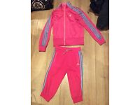 Addidas girls tracksuit age 13-14 good condition
