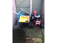 electric quad and pedal tractor