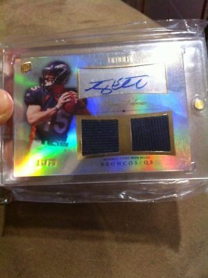 Tim Tebow 2010 Topps Tribute Rookie Refractor Auto Dual Jersey Rc  20  Gators