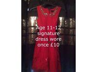 signauture by next dress age 11-12