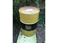 Used oil drum good for Fire bin or barbecue