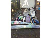 windsurfing boards and euipment