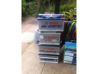 4 X Large Bosch Batteries for large car or van 4x4 etc 1 Almost new
