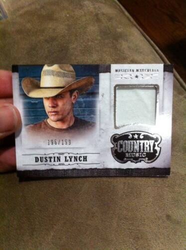 DUSTIN LYNCH 2014 PANINI COUNTRY MUSIC EVENT WORN MUSICIAN MATERIALS RELIC /199!