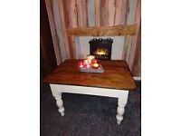 gorgoeus heavy pine coffee table