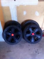 17 inch rims with low profile tires for vw golf
