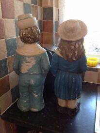 Boy and Girl (Ceramic?) ornament.
