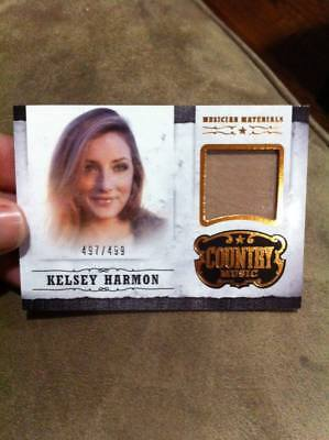 KELSEY HARMON 2014 PANINI COUNTRY MUSIC EVENT WORN MUSICIAN MATERIALS RELIC /499