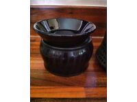 scentsy electric warmer & wax rarely used ex con animal print safer cleaner than candles