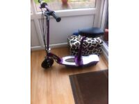 Purple Razor electric scooter [WITH SEAT]