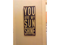 "Medium wood picture ""You are my sunshine"""