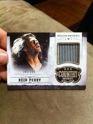 "REID PERRY 2014 PANINI COUNTRY MUSIC ""MUSICIAN MATERIALS"" EVENT-WORN RELIC /299!"