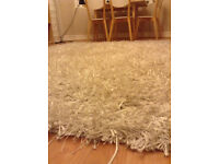 White tufted Carpet (Rug), first used, 170x240 cm