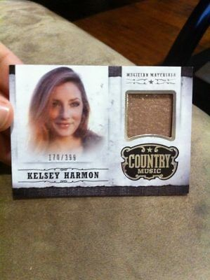 KELSEY HARMON 2014 PANINI COUNTRY MUSIC EVENT WORN MUSICIAN MATERIALS RELIC /399