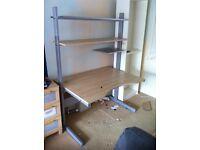 IKEA office desk with shelf