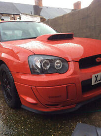 Fresh import Subaru Impreza WRX Red