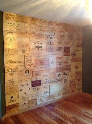 12 X TRADITIONAL WINE WOODEN BOX END PANELS WALL PLAQUE HOME BAR PUB DECORATION Decorative Wall End Panel