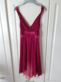 Pink/peach dress, size 10