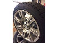 Bmw alloys n winter tyres