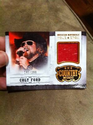 "COLT FORD 2014 PANINI COUNTRY MUSIC ""MUSICIAN MATERIALS"" EVENT-WORN RELIC /399!!"
