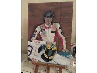 Painting - Joey Dunlop Original not a print