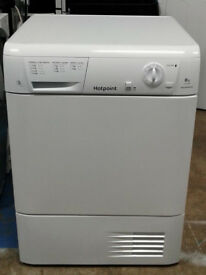 l025 white hotpoint 8kg B rated condenser dryer comes with warranty can be delivered or collected