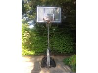 Full size extendable basketball net